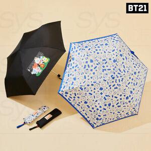 BTS BT21 Official Goods Green Planet Bag Lightweight Umbrella & Parasol + Track#