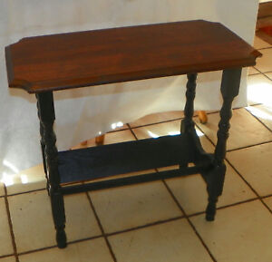 Image Is Loading Solid Walnut Top Pine Base Bookshelf End Table