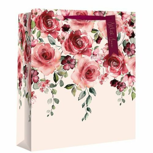 Valentines Day Gift Bag Box Wrapping Present Love Heart Red Flower Rose