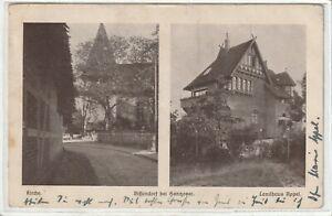 """Ansichtskarte Bissendorf bei Hannover - Kirche/Landhaus """"Appel"""" - 1919 - s/w"""