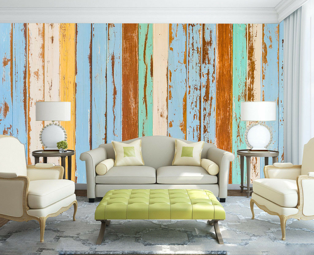3D Mottled Wood 75 Wall Paper Murals Wall Print Wall Wallpaper Mural AU Lemon