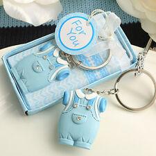 Blue Baby Boy Onesie Keychain Cute Baby Shower Favor