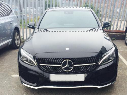Kühlergrill Diamant Schwarz Chrom Mercedes C Klasse W205 ohne Loch Kamera