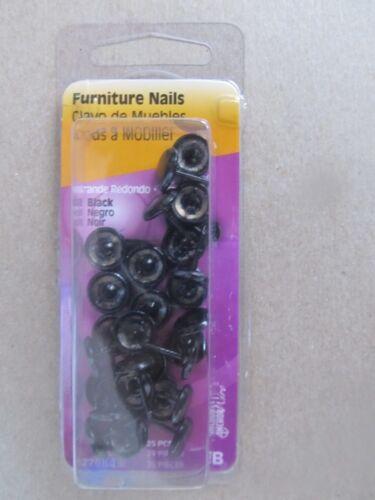 Hillman Upholstery Tack//Furniture Nails Black #122684 NEW 25pcs