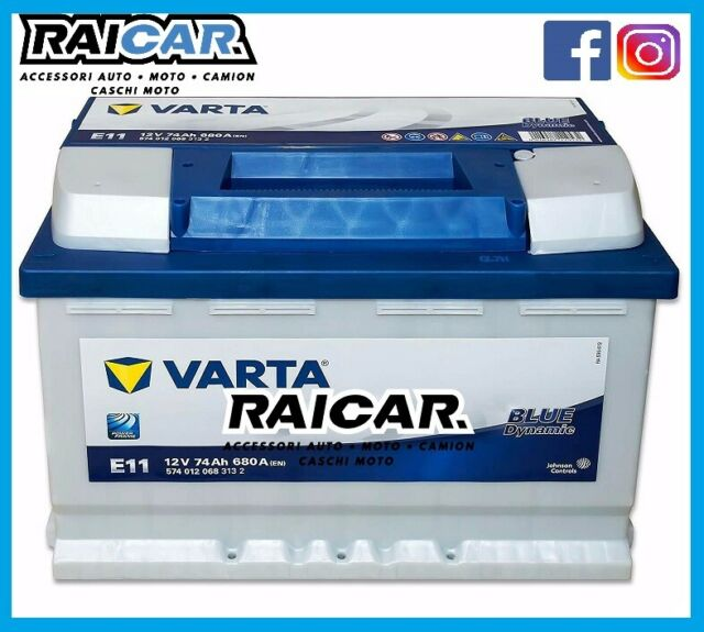 Batteria auto VARTA E11 74ah 680a en blue dynamic SPEDIZIONE ASSICURATA UPS