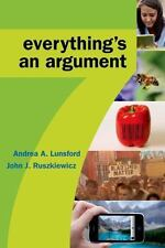 Everything's an Argument, Ruszkiewicz, John J., Lunsford, Andrea A., Good Condit