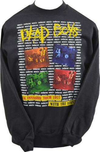 Unisex Nero Felpa Dead Boys UK invasione Tour 1977 I DANNATI punk XS 7XL