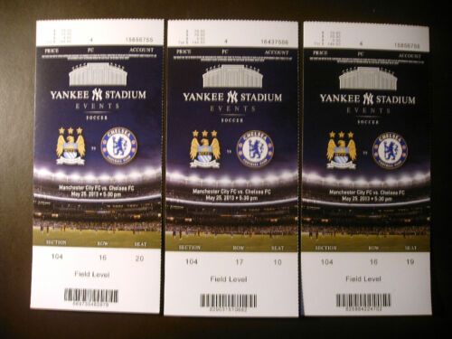 One ticket 2013 Manchester City FC vs Chelsea FC soccer ticket stubs