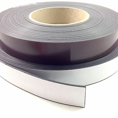30 METERS OF SELF ADHESIVE MAGNETIC TAPE MAGNET STRIP A & B 12.7mm 20mm & 25mm