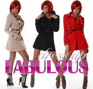 NEW-SEXY-WOMEN-039-S-JACKET-Size-6-8-10-12-LADIES-TRENCH-COAT-OUTERWEAR-XS-S-M-L
