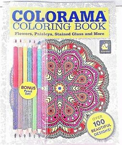 Image Is Loading Colorama Paperback Coloring Book With 100 Designs Includes