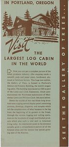Details about 1952 Gallery of Trees Forestry Building Travel Brochure  Portland Oregon OR