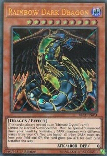 "Edition! 1 YUGIOH! Ultra Rare Near Mint /""Rainbow Dark Dragon/"" BLRR-EN054"
