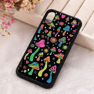 Rainbow Mushrooms Phone Case Psychedelic Hippy iPhone X 11 12 Mini Pro Max Cover