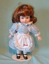 "Little Debbie Porcelain Doll - 12.5"" Tall with Stand"