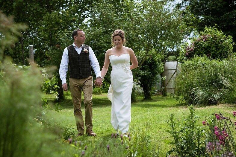 Sassi Holford Jessica wedding dress and Kayleigh belt, size 12/10