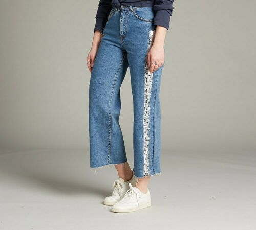 PA1 Womens The Ragged Priest KSKATER Blue//Silver SQN Jeans RRP £74.99