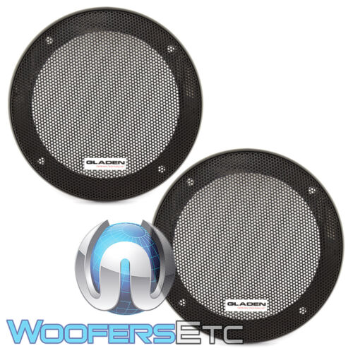 """GLADEN GI100 4/"""" CAR SPEAKER COAXIAL COMPONENT PROTECTIVE GRILLS COVERS PAIR NEW"""