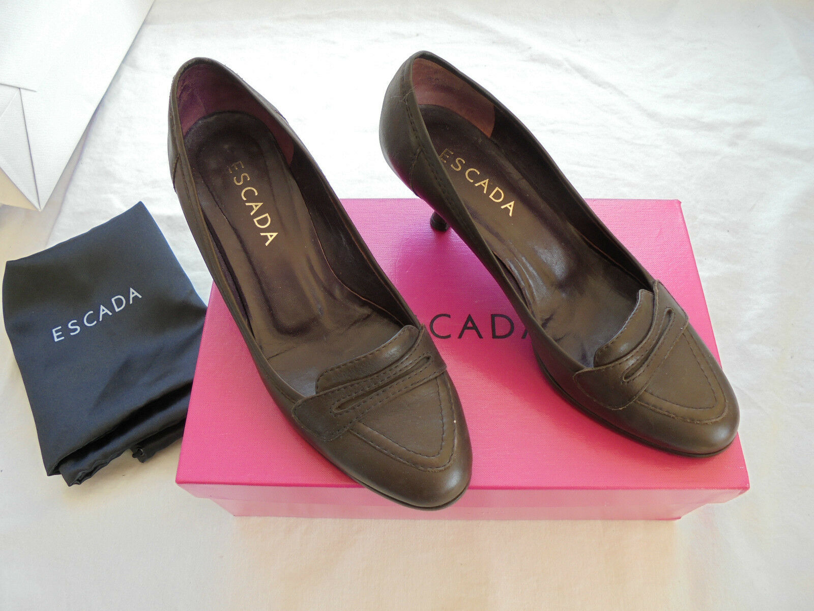 Original ESCADA Leder Pumps NP:  w NEU Gr. Luxus Schuhe High Heels Gr. NEU 37 bb5fb6