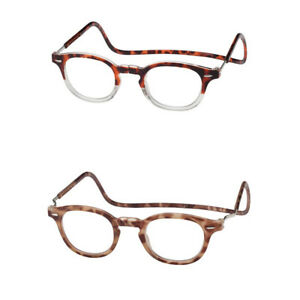 18f1b19d8e Image is loading Clic-Vintage-Oval-Magnetic-Reading-Glasses-Front-Connect-