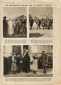 Roi-Albert-Ier-amp-Vittorio-Emanuele-III-di-Savoia-Italia-Italy-Senegal-1918-WWI