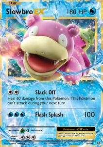SLOWBRO EX 26//108 XY Evolutions Ultra Rare Pokemon Card Mint//Near Mint