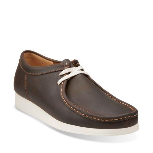 Clarks Originals WallabeeAerial Men's Beeswax Leather Moc Toe EVA shoes 26108004