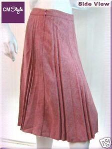 Flannel-Pleat-Long-Fashion-Skirt-Pink-M-29-5-034
