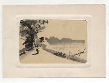 Carte Old Postcard Vietnam Indochine Hanoi Ed. Xunhasaba Hand Painted Unposted