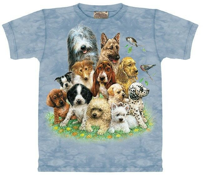 Kids Xl Dogs Family T Shirt New Puppy The Mountain Pet Men's Small Party Surf