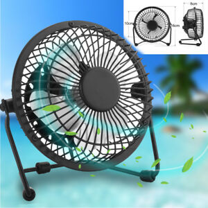 USB-Ventilateur-Mini-Bureau-Table-Portable-Silencieux-Ordinateur-PC-Inclinable