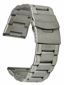 Edelstahl-Uhrenarmband-3-reihig-Ersatzband-Sicherheitsfaltschliesse-24-mm-Laenge-1