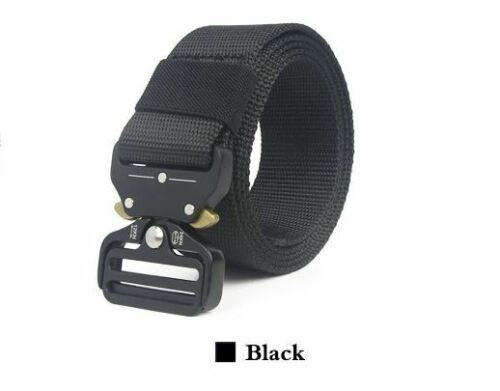Canvas Belt Metal Outdoor Tactical Military Training Small//Extra Large 90-200cm