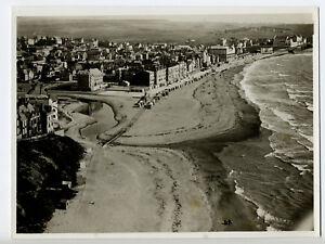 Wimereux-vue-aerienne-c-1935-Vraie-Photo-Vintage-Cote-d-039-Opale
