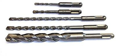 ADDAX SDS PLUS HAMMER DRILL BITS CONCRETE MASONRY TUNGSTEN CARBIDE 4MM 25MM