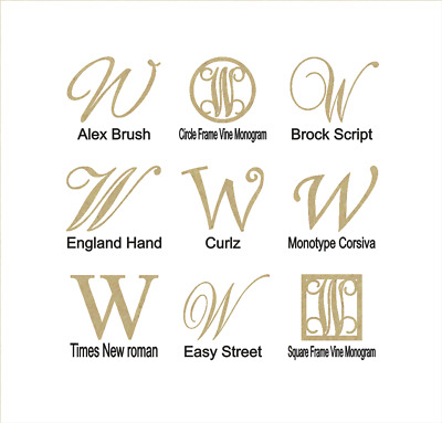 """Unfinished Wooden Monogram Letter /""""C/"""" in Your Choice of Size and Font"""