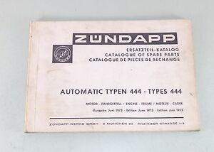 Teilekatalog-Ersatzteilliste-Parts-List-Zundapp-Automatic-Mofa-Stand-06-1973