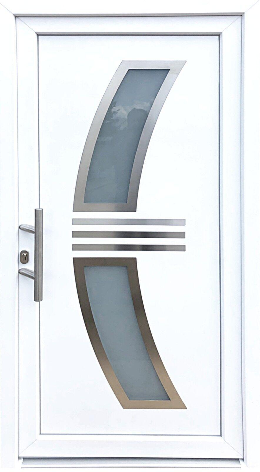 Nr. 3 Weiße Kunstsoff Tür 100 x 210 cm, Designer Tür, Weiße Wohnungstür,Innen L