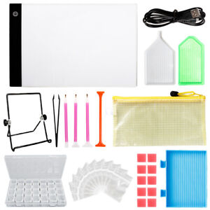 5D-Diamond-Painting-Tools-Embroidery-Kit-with-LED-Light-Pad-Board-Stand-Holder