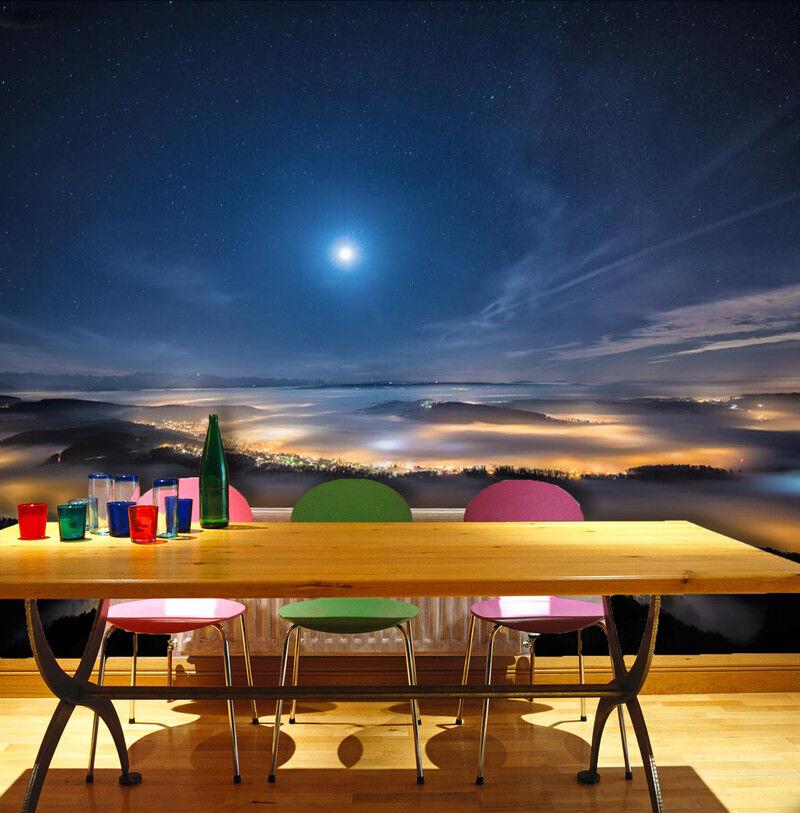 3D Mondlicht Wolken 662 Tapete Tapeten Mauer Foto Familie Tapete Wandgemälde DE