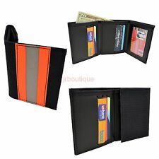 Firefighter Bunker Wallet NOMEX Turnout Gear Leather TriFold Fire Department