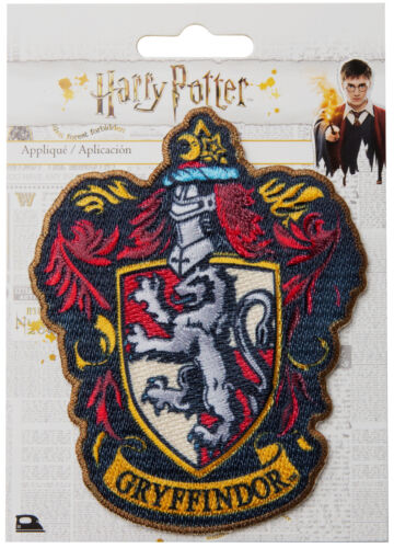 Official Warner Bros Harry Potter House Crests Applique Motif Patches Iron On