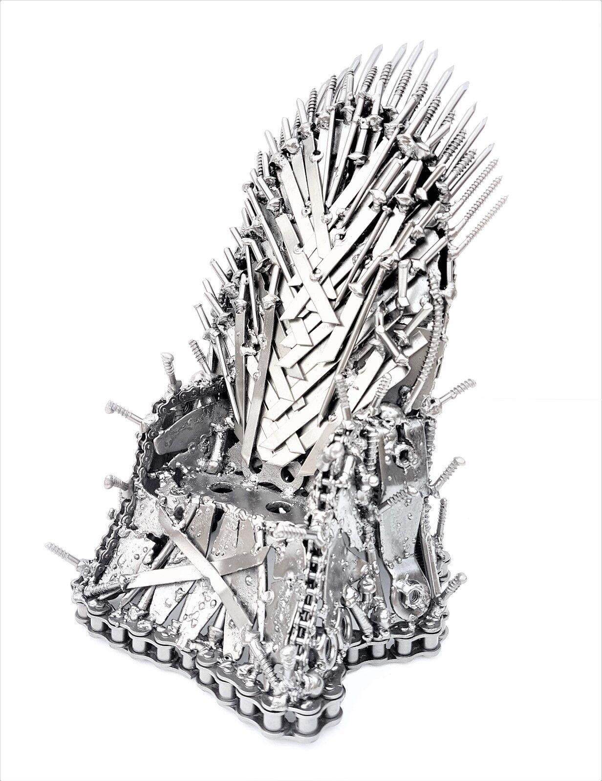 Juegos de tronos trono de hierro figura Modelo Producciones Arte del metal escultura