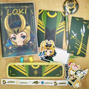 Personnalisé Marvel's The Avengers Steve Bucky Loki Stationery Set Cosplay Ruban être-afficher Le Titre D'origine Dessins Attrayants;