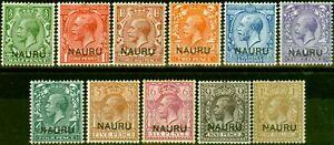 Nauru-1916-23-Set-of-11-SG1-12-Good-to-Fine-Mtd-Mint-6d-Toned