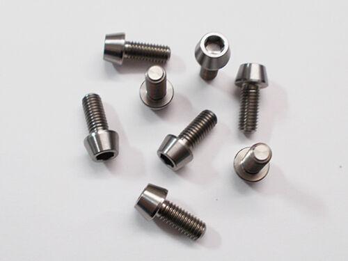 Grade 5 Titanium m5x10mm Taper Head Screws