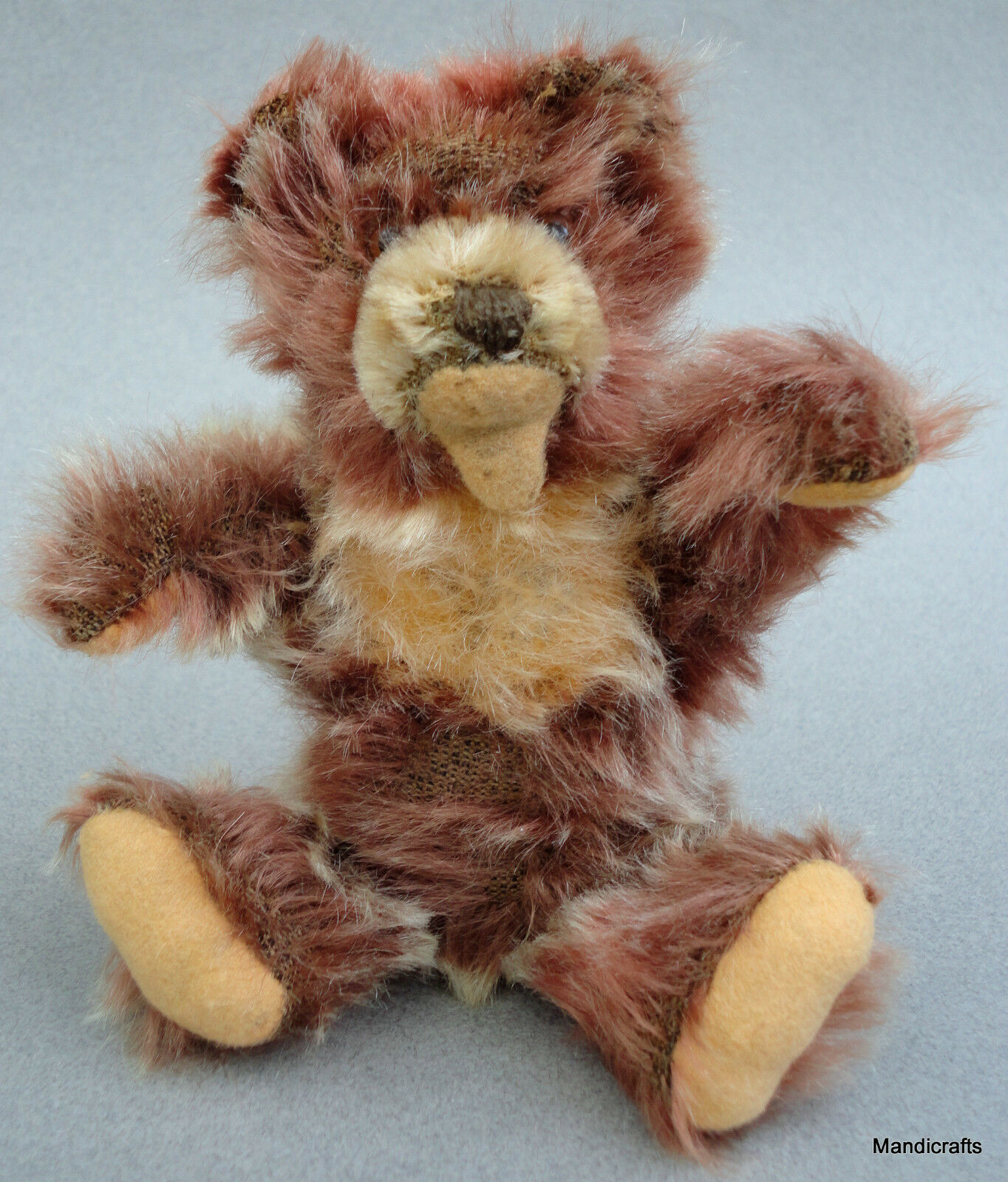 Steiff Zotty Teddy Bear Cinnamon Mohair Plush 17cm 7in 1950s Jointed no ID AS IS