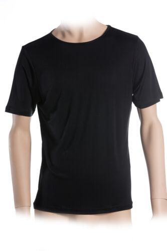 Nero Sotto camicia collo rotondo Interlock 100/% seta superior Naturals XXL