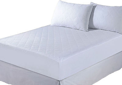 "King Extra Deep 12"" Fitted Quilted Mattress Protector Sheet Bed Cover"