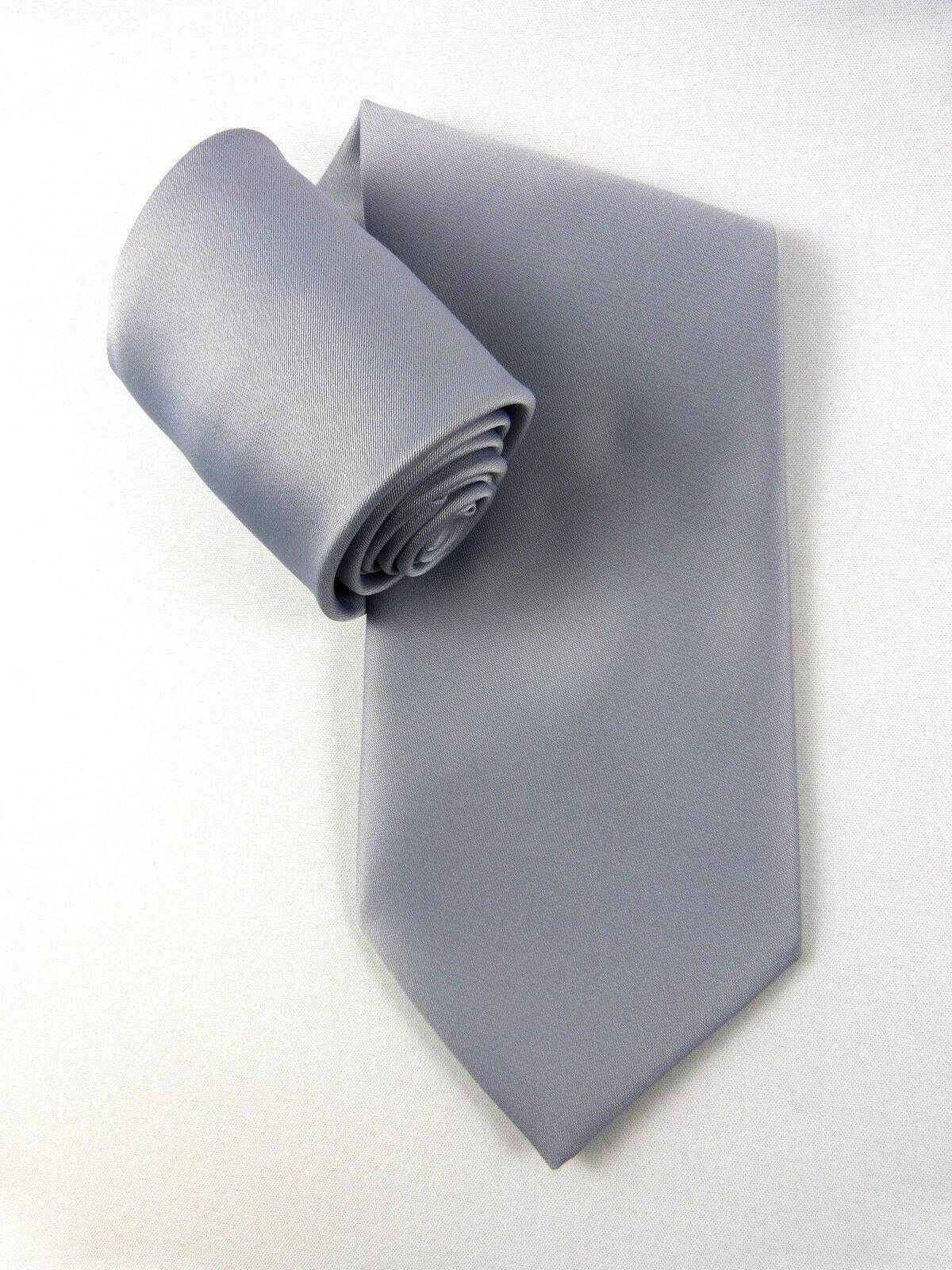 Elegante señora uni corbata Women 's tie gris claro plata light grey
